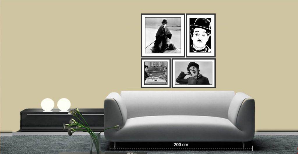 charlei chaplin adesivo quadro parede